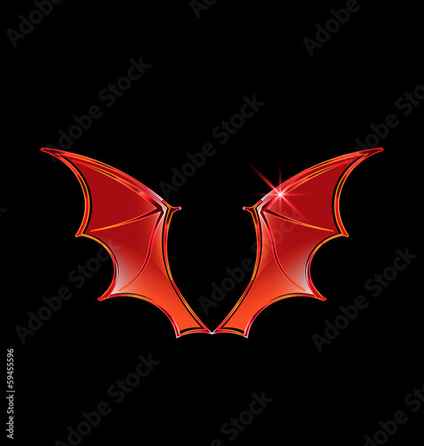 Vector Vampire Wings Logo Vector