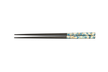 Black Chopsticks isolated on white