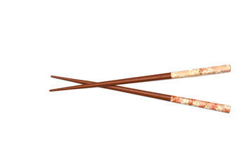 Terracotta Chopsticks isolated on white