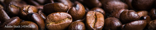 banner von kaffeebohnen