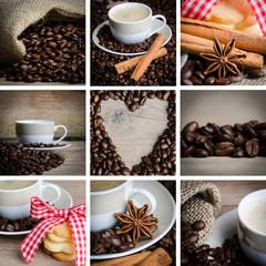 collage einiger kaffeebilder