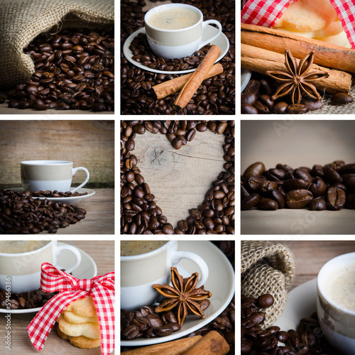 collage einiger kaffeebilder