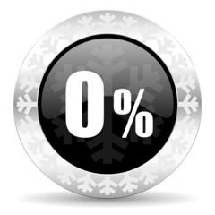 0 percent christmas icon