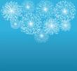 vector white fireworks on blue background - 59456947