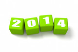 New Year 2014 Green Cubes