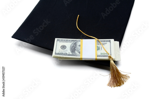 Education Costs , isolated on white background