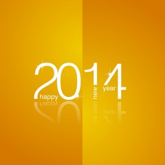 White 2014 orange background vector