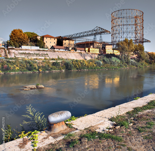 Old River Port, River Tber, Gazometer, Rome
