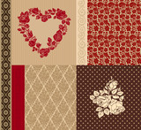 Vector set of vintage elements for design