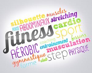 nuage de mots - fitness