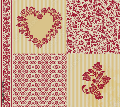 Vector set of vintage elements