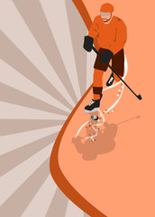 ice hockey sport background