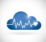 cloud lifeline illustration design poster