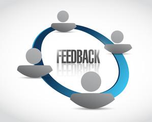 people feedback cycle illustration design