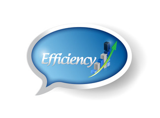 business efficiency message bubble illustration
