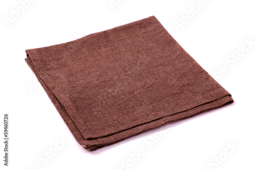 Brown rough napkin isolated