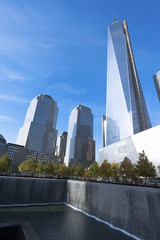 National 9/11 Memorial with World Trade Center Tower One
