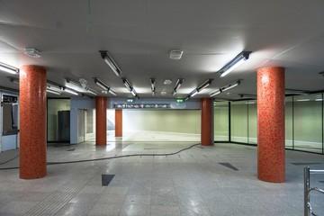 Large underground interior in a city