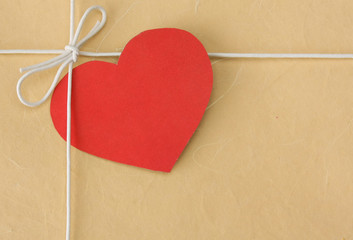 Heart on the gift box
