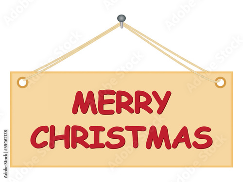 notice board with Merry Christmas congratulation