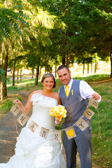 Bride Groom Thank You Banner