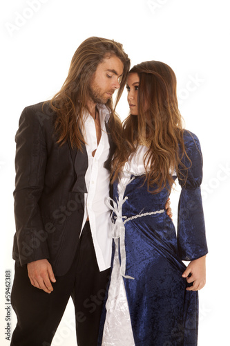 couple in formals arm around