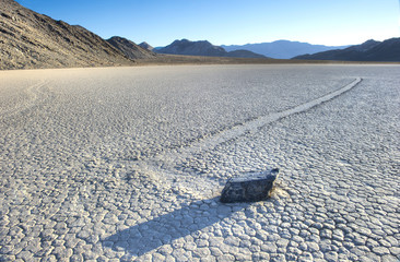 wandering rock, the racetrack, death valley , california. unexpl
