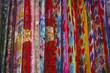 Colorful traditional silk in Xinjiang