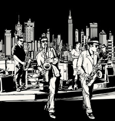 Jazz band playing in New York