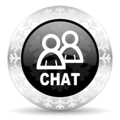 chat christmas icon