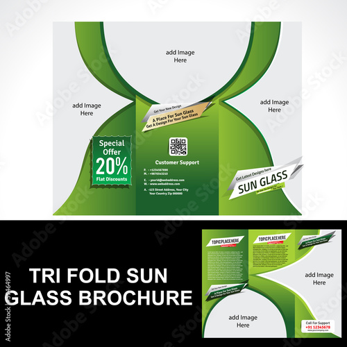 Tri Fold Sun Glass Brochure