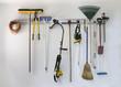 Neat garage tool hanging storage - 59465356