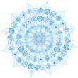 Big blue glowing snowflake