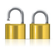 open and closed padlocks