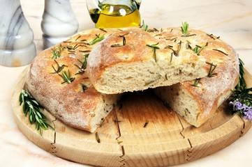 Italian rosemary focaccia bread © Arena Photo UK