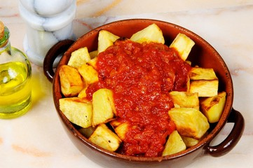 Spanish patatas bravas © Arena Photo UK