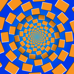 Rotating Blocks, Optical Illusion, Vector Illustration Pattern B