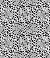 Optical Illusion, Vector Seamless Pattern Background, Hexagons