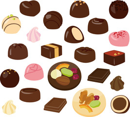 たくさんのチョコレート