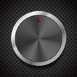 Black Volume Button Knob, Vector Illustration.