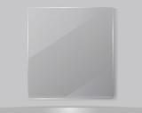 Transparent Glass Framework, Vector Illustration.