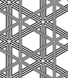 Black and White Vector Seamless Pattern Background, Lines Only.