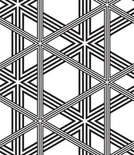 Noir et blanc Vector Seamless Pattern Background, Lignes Seulement.