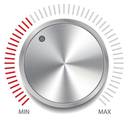 Volume Button Knob, Vector Illustration.
