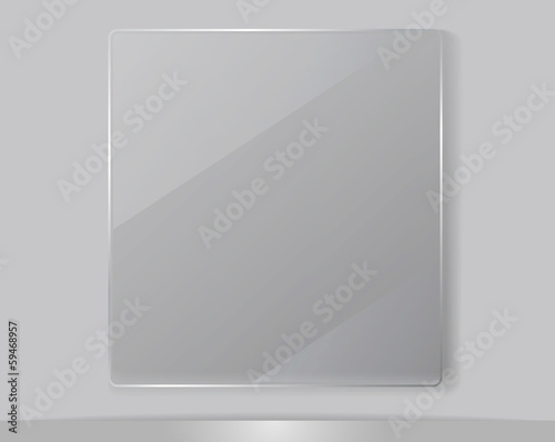 Transparent Glass Framework, Vector Illustration. - 59468957