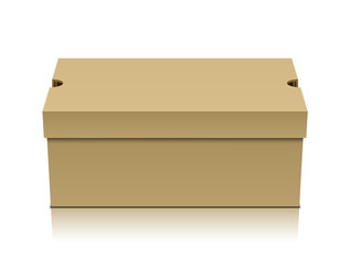 Brown shoe box