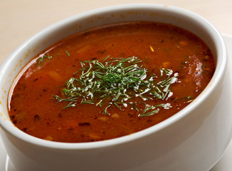 hearty spicy Mexican soup