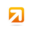 arrow right icon sign orange