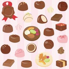 チョコレートの背景素材