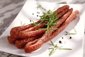 Thin sausage